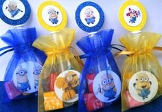 12 Minions Despicable Me Filled Party Favor Goody Organza Bags Minion Party Favors, Minion Party Theme, Despicable Me Party, Minion Birthday, Birthday Party Decorations, 2nd Birthday, Birthday Parties, Minions Decorations, Minion Baby