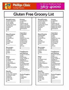 Gluten Free Grocery List #celiacdisease #gfliving