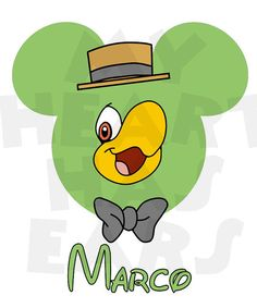 Printable DIY Mickey Mouse head as Jose Carioca by MyHeartHasEars DIY iron on transfer for t-shirts