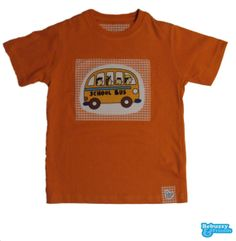 School Bus - Orange tshirt for boy with fabrics by BebuzzyandFriends, €15.00