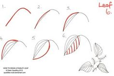 How to draw Paisley Leaf 06 by *Quaddles-Roost on deviantART