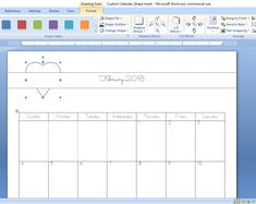 How to Create a Custom Calendar in Word - Calyx & Corolla Custom Calendar, Diy Calendar, Organizing Paperwork, Organization, Create A Calendar, Drawing Tools, Time Management, Outline, 3 D