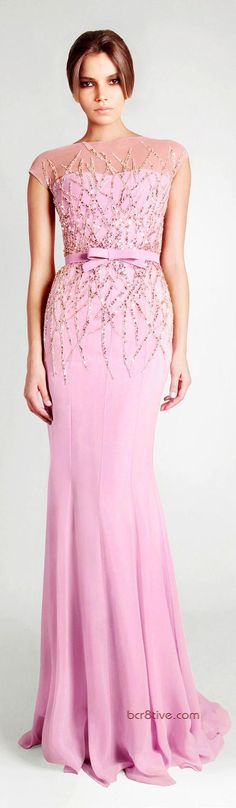 purple maxi dress pink @roressclothes closet ideas women fashion outfit clothing style Georges Hobeika Ready to Wear Signature Spring Summer 2013: