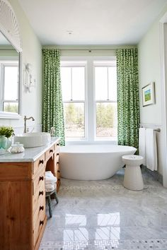 Matching Textiles/Sarah Richardson  Happy to see some color. Love the green.