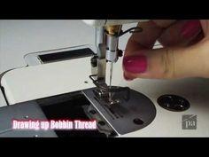 E14 - threading the Juki machine and the bobbin. how to check tension on the bobbin case.