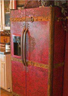 old dinged refrigerator to a vintage steamer trunk