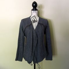 SALE Vera Wang Flyaway Moto Jacket Simply Vera Wang Charcoal Flyaway Moto Jacket - Size Large. Perfect for the cool summer nights! In perfect condition and did I mention it has pockets!? Vera Wang Sweaters Cardigans