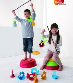 "Enter to win the The Weplay® Rock N' Fish. The Rock N' Fish has 3 types of fish designed with multiple shaped openings, wobble action, and bright colors. To ""hook"" a fish the children have to be slow and careful. The kit includes a set of connected rods for children to work together. The Rock N' Fish enhances hand muscle control, hand-eye coordination and patience while developing social skills through teamwork. Ages: 3 & up."