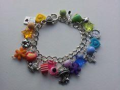 Rainbow alice charms bracelet