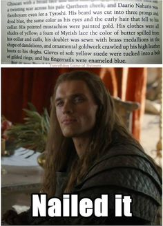 Please tell me I'm not the only one that had this reaction to Daario?!