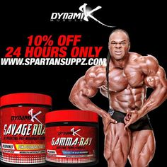 For the next 24 hours you can save 10% off Dynamik Muscle products & stacks  No code needed-just shop & save. Website order only.  PLUS every single website order in the next 24 hours is going to get a FREE sample of Gamma-Ray & Savage Roar  Yes-buy anything and get a sample of both products   Shop here http://ift.tt/1VgKp97  Or hit the link in our bio  #spartansuppz #dynamikmuscle #gammaray #savageroar #kaigreene #preworkout