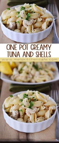 One Pot Creamy Tuna and Shells