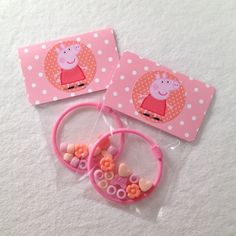 8 -  Peppa Pig Birthday or Slumber Party Favor 6 inch DIY Bracelet Kits - Set of 8 - pinned by pin4etsy.com