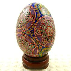 MADE TO ORDER Fall JewelsA Pysanky Goose egg by twistedpoppy, $59.00