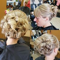 Beautiful hair up for the mother of the bride.