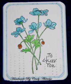 Card Designed By Vickie Brierworth Colored With Copic Markers Stenciled and Stickles Used