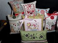 Incredible cross stitch blog - beautiful finishes