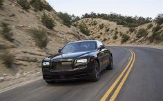 Herunterladen hintergrundbild rolls-royce wraith, schwarze abzeichen, 2017, luxus-auto, schwarz wraith, straße, geschwindigkeit, rolls-royce