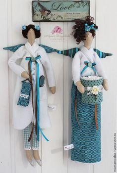 Купить Хранительницы ванной комнаты парные! - мятный, тильда, хранительница, ватные диски, ватные палочки
