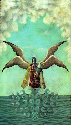 Zadquiel, príncipe de los Tronos.   Este es el cuerpo burocrático angelical, cuya misión es regular las tareas y obligaciones de todos los miembros de la Corte Celestial. La tradición señala que hay más de 60 tronos. Es más o menos la representación de los gobiernos.
