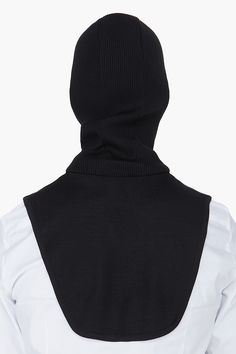 JUUN.J Black Hooded Wool Collar
