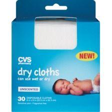CVS Dry Cloths for Sensitive Skin, Unscented