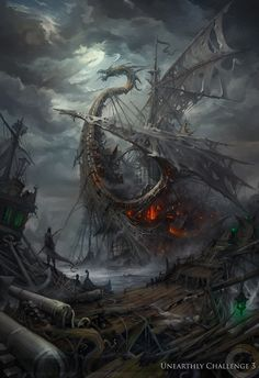 Lost ships by haryarti on deviantART. Living inside a shipwreck.