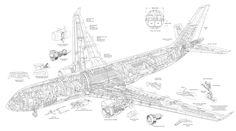 Airbus A330-200 cutaway drawing