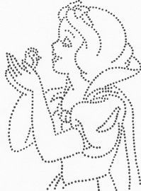 Sneeuwwitje Disney String Art, Nail String Art, String Art Templates, String Art Patterns, Dot Painting, Fabric Painting, Paper Embroidery, Embroidery Patterns, Push Pin Art
