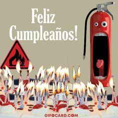 happy birthday in Spanish GIF Happy Birthday In German, Happy Birthday Wishes, Spanish Birthday Cards, Happy Birthday Pictures, Happy B Day, Lets Celebrate, Birthday Candles, Birthdays, Animation