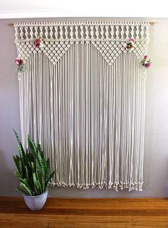 A Macrame plant hanger in the corner of the room is a subtle and interesting way of bringing greenery into the home. Description from thesimplechic.com. I searched for this on bing.com/images                                                                                                                                                                                 More