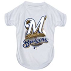 Hunter MFG Milwaukee Brewers Performance T-Shirt, Medium -- Quickly view this special dog product, click the image : Dog Shirts