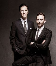 Benedict Cumberbatch and Tom Hiddleston. I still don't completely get Benedict, but I'm drawn to him.