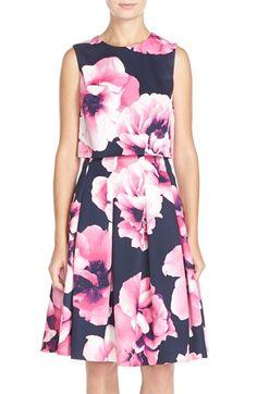 2 piece floral dress