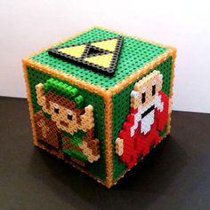Legend of Zelda (NES) Cube perler beads by boushwa4