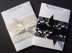 Elegant Wedding Invitation DIY Kit ~ Christina Pocket Invite ~ 25 pcs