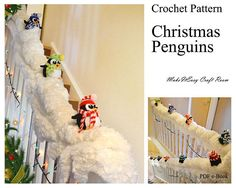 Amigurumi penguin crochet pattern Christmas penguin decor