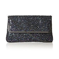 BLIGHTY - Glitter Embellished Clutch Bag by Dune