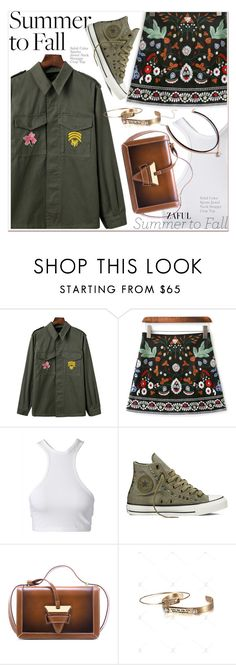 """""""summer to fall"""" by paculi ❤ liked on Polyvore featuring Converse and vintage"""