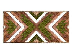 Reclaimed Wood Wall Art, Wooden Wall Art, Diy Wall Art, Large Wall Art, Wall Art Decor, Wall Wood, Diy Wood, Moss Wall Art, Moss Art