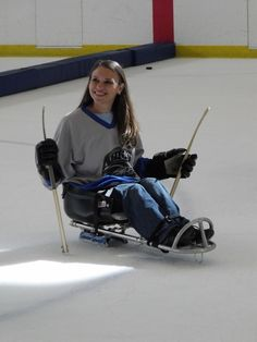 Most fun ever in a wheelchair - adaptive winter sports #blog #sledgehockey…