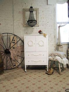 Cottage Chic White Dresser