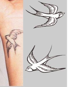 wrist swallow tattoo, represents family