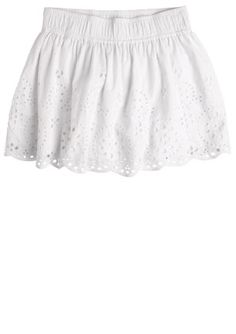 White eyelet skirt.  From Delias. $34.50