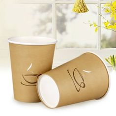 100pcs Disposable Paper Cups Tableware Striped Coffee Wedding Party Drinking New #Unbranded #AllOccasions