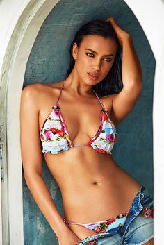 AGUA BENDITA Bendito Petalo Top Bikini Top | The Garden|Irina Shayk