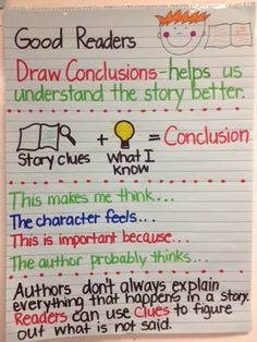 Drawing Conclusions on Pinterest | Reading Journals, Making Inferences ...