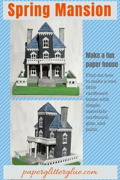 Lucy foxworth lucyf7b no pinterest spring mansion putz house putzhouse papercraft glitterhouse fandeluxe Images