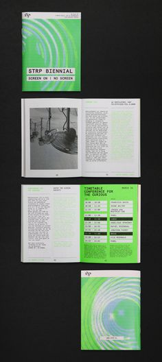 Print by graphic design studio Raw Color for Dutch art, technology and experimental pop culture festival STRP 2015.