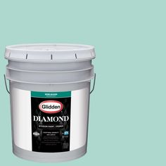 Glidden Diamond 5 gal. #HDGB06 Washed Teal Semi-Gloss Interior Paint with Primer